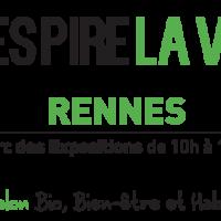 Entrée gratuite salon Respire la Vie Rennes 2018
